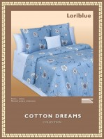 Постельное белье Cotton-Dreams Loriblue твил-сатин